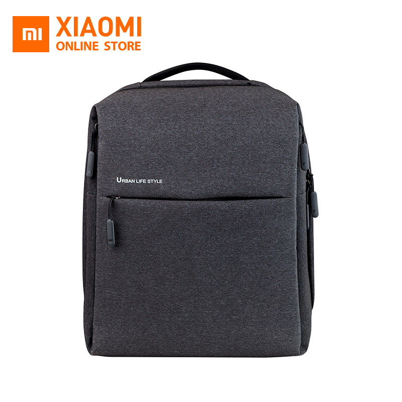 Original xiaomi Minimalist City Back pack XiaoMi Back pack Urban Life Style Polyester Simple Schoolbag laptop