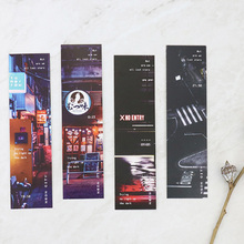 30 pcs/box creative Neon city paper bookmark stationery bookmarks book holder message card school supplies papelaria