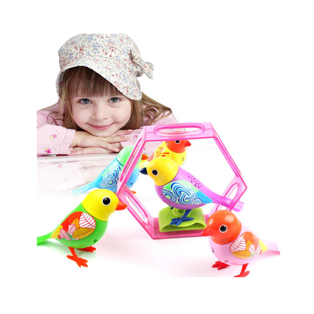 Inteligente cantar Aves música brinquedos para crianças animais de estimação exóticos pássaros eletrônicos Crianças os Melhores Presentes Do Bebê Cor Aleatória