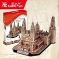 Кэндис го CubicFun 3D модель бумаги головоломки kid соберите строительные игрушки Catedral де Сантьяго-де-Компостела Испания подарок на день рождения 1 шт.