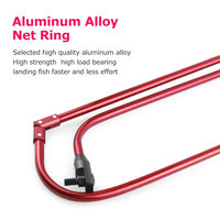 Foldable triangle fishing net alum