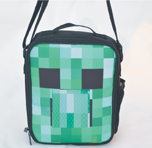 2016 Hight quality cartoon minecraft messenger lunch bag for teenagers anime cross body handbag minecraft lunch box