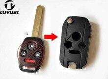 цена на FOB Key Blanks 3+1 Buttons Modified Flip Folding Remote Key Shell Case  For Honda Fit Accord Odyssey Civic City CRV