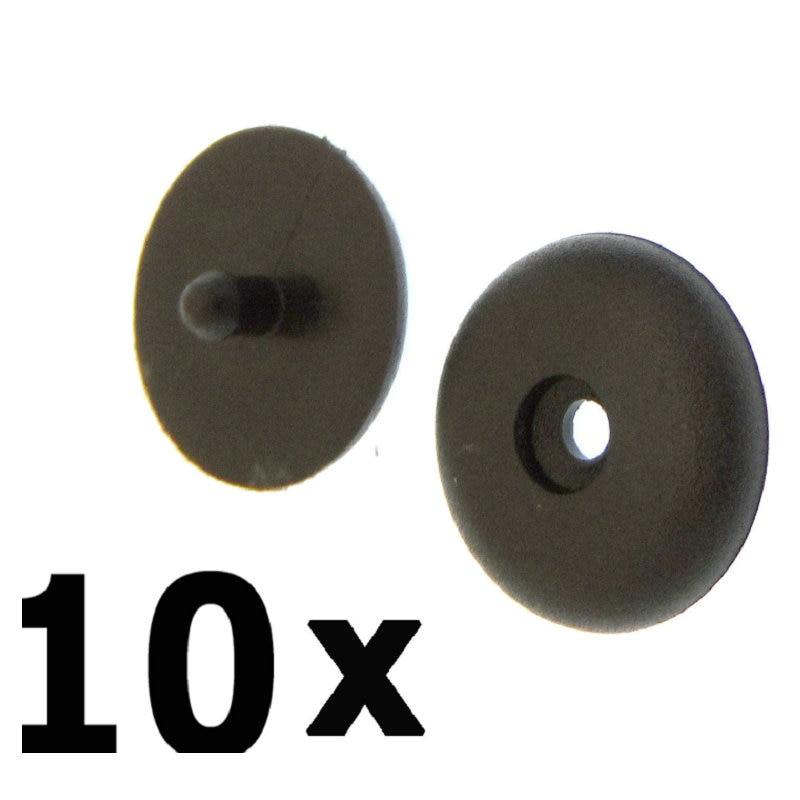 10 X Pom Nylon Seat Belt Buckle Stopper Retainer Fasteners