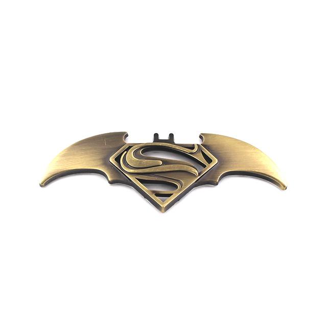 3D Metal SUPERMAN V BATMAN for car Stickers and car Accessories