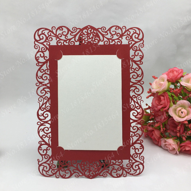 50pcs Laser Cut Meue Cards Restaurant Table Card Valentine S Day