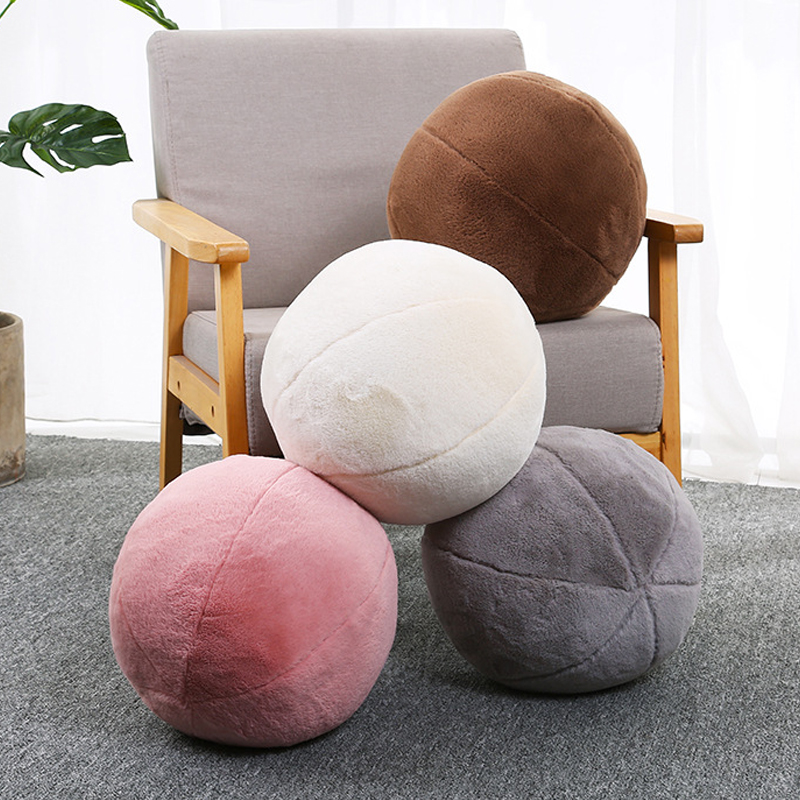 Nordic Simple Style Creative Cushion Soft Plush 30CM Ball Pillow Sofa Cushion Bed Sofa Room Decoration