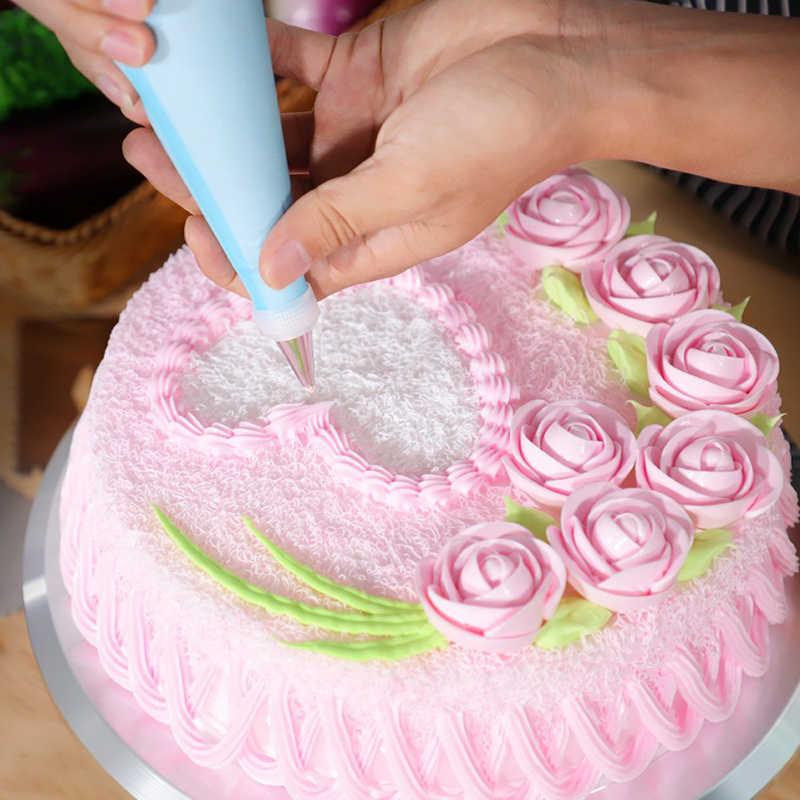 Lvyshion 73 unids/set equipo para decorar tortas tubo de pastelería herramientas de Fondant juego de mesa giratoria de cocina pastel postre horneado suministros de pastelería