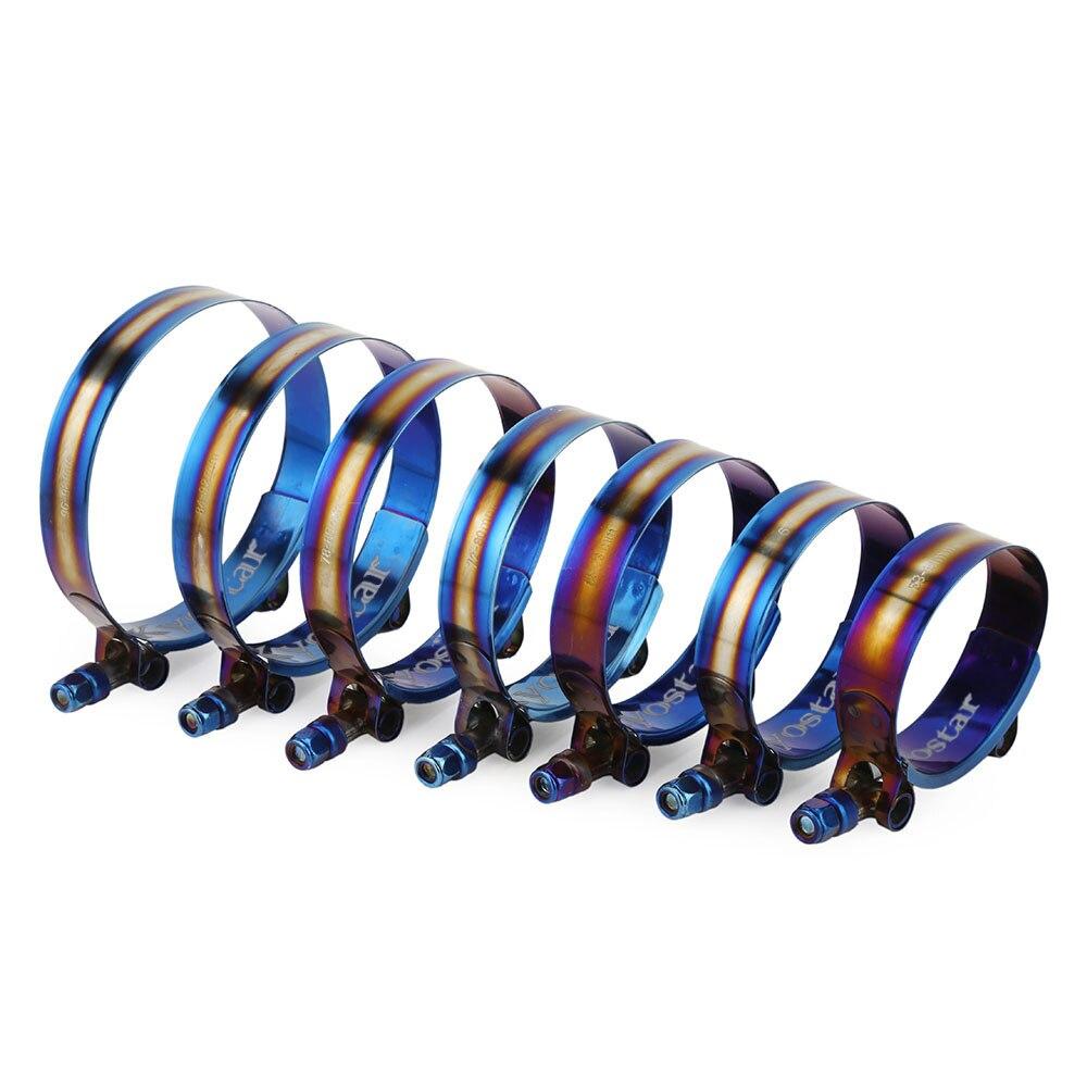 Набор зажимов для шлангов с Т болтом из нержавеющей стали 1,75 3,75 дюйма, 45 105 мм, универсальные регулируемые титановые зажимы с синей поверхностью|clamping kit|clamping clampsteel clamping kit | АлиЭкспресс