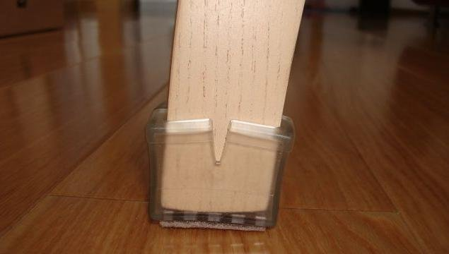 Floor protectors for square chair legs floor matttroy for Wood floor protectors