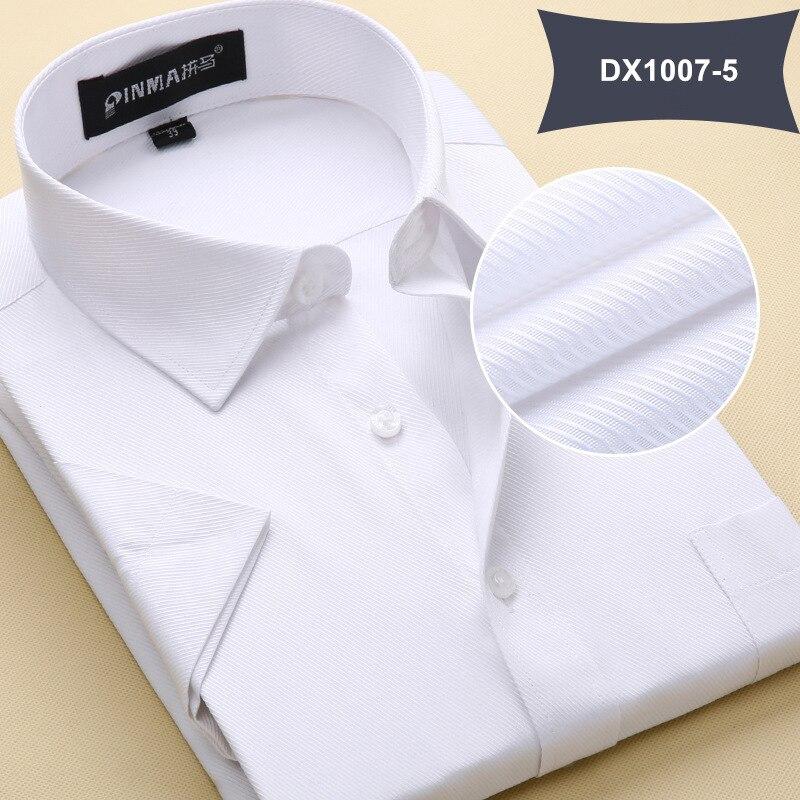 Летняя Стильная мужская одежда, мужская повседневная рубашка с коротким рукавом и отложным воротником, мужские рубашки, одноцветные рубашки для мужчин - Цвет: DX10075