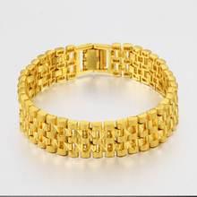 Мужской браслет с желтым золотом толстая цепочка длиной 20 см