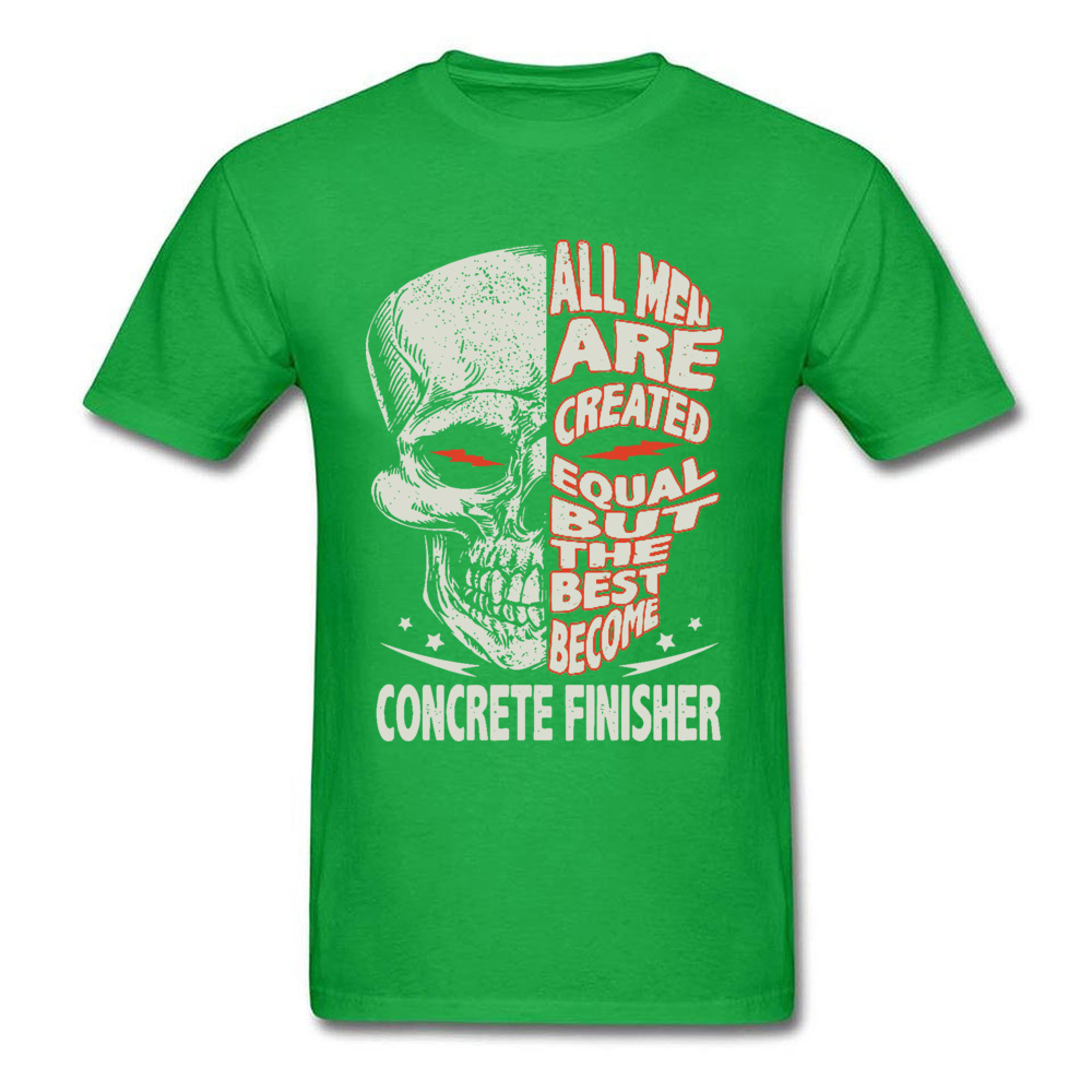 Skull-all-men-are-created-equal-but-the-best-become-bike- O Neck T-Shirt Summer Custom Tees Discount 100% Cotton T-shirts Mens Skull-all-men-are-created-equal-but-the-best-become-bike- green