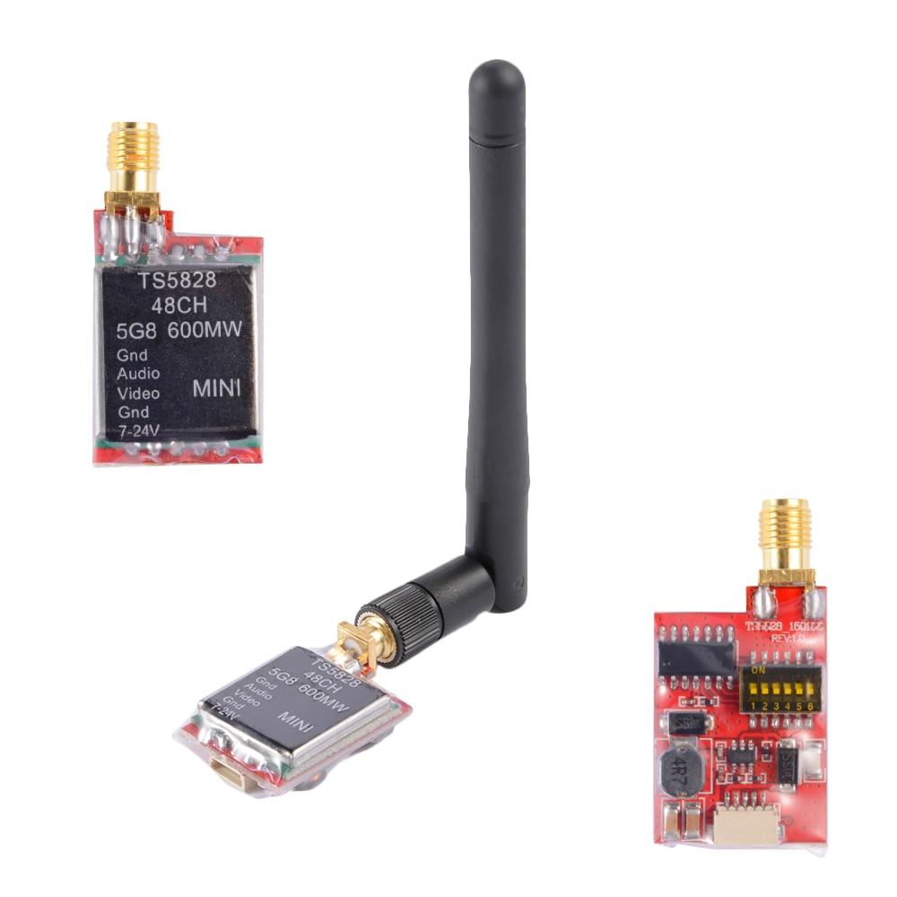 TS5828 5.8G 600MW 48 Channel Mini Lightweight AV Audio Video Wireless Transmitter Module For Drones RC Racer Multi-copter