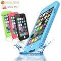 Para iphone 6 tpu caso à prova d' água ip54 vida magro água proteção à prova de saco de silicone caso capa para iphone 6 s com impressão digital