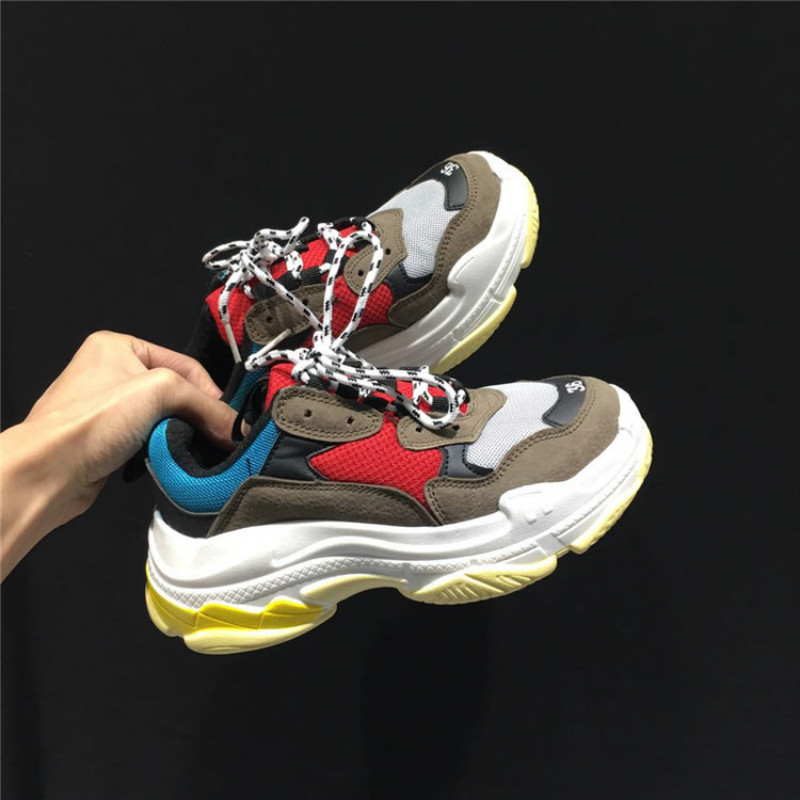 Men dad sneakers casual Shoes Air Mesh yellow chunky Sneakers Outdoor   Walking Shoes Zapatillas Hombre Breathable