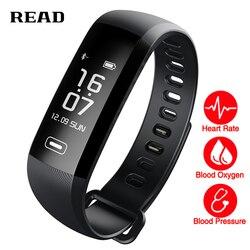 TEZER R5 MAX 0 96 Screen Smart Fitness Bracelet Push 50 Words Blood Pressure Heart Rate