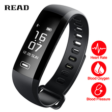 TEZER R5MAX smart Fitness Bracelet Watch intelligent 50 word Information display blood pressure heart rate monitor Blood oxygen