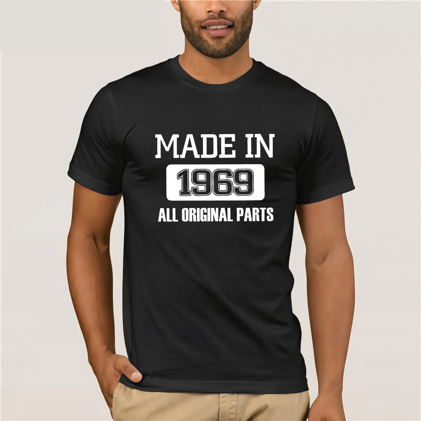 Made In 1969 2019 Fashion   T     Shirts   Men's 50th Birthday 50 Years Old Clothes Plus Size Tee   Shirt   100% Cotton Round Neck   T  -  Shirt