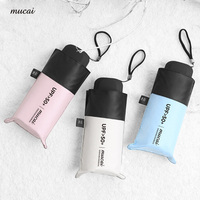 MUCAI Pocket Mini Umbrella Sunscreen Anti UV Five Folding Umbrellas Women Men Brand Glassfiber Windproof Light