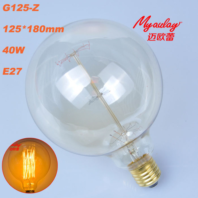 incandescent bulb edison design g125 z 40w tungsten wire light bulb rh aliexpress com Low Profile Incandescent Light Fixtures Low Profile Incandescent Light Fixtures