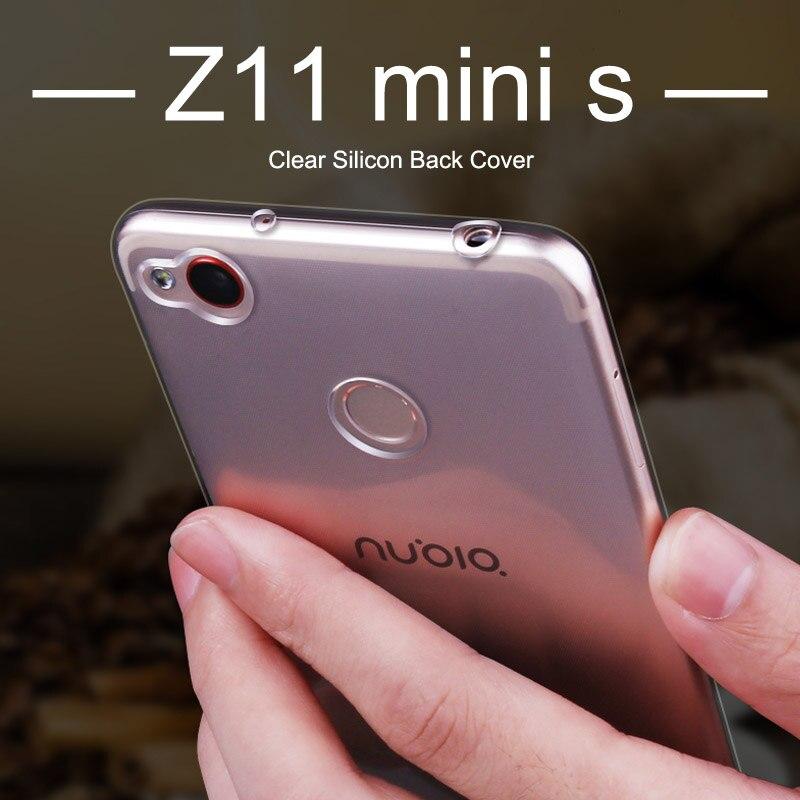 "ZTE nubia z11 mini s case TPU zte nubia z11 mini s case cover soft silicone back cover mofi 5.2""coque ultra thin transparent"