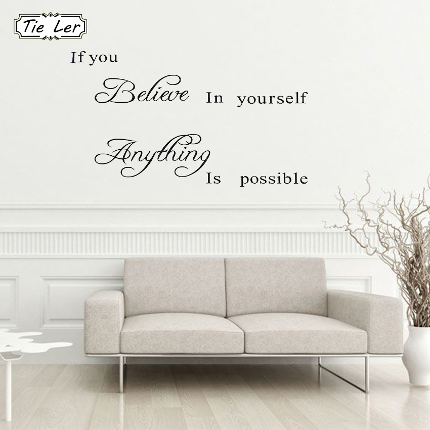 Kitchen Letter Pattern Wall Sticker Removable Wall Decal Art Mural Decoration TE