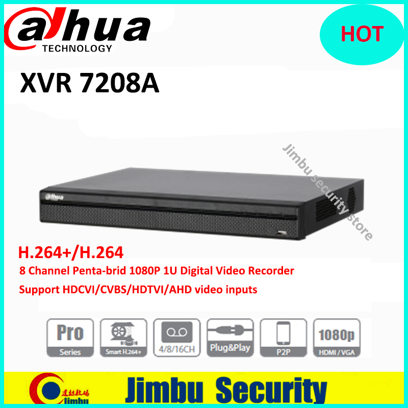 Dahua XVR recorder 8CHXVR7208A H.264+/H.264 2 SATA Ports up to 6TB each disc Support HDCVI/CVBS/HDTVI/AHD video inputs up to 5MP все цены
