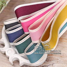 100yards 10/16/25/38mm stitched cowboy korean ribbon for hair bow diy handcraft supplies accessories garment shoe