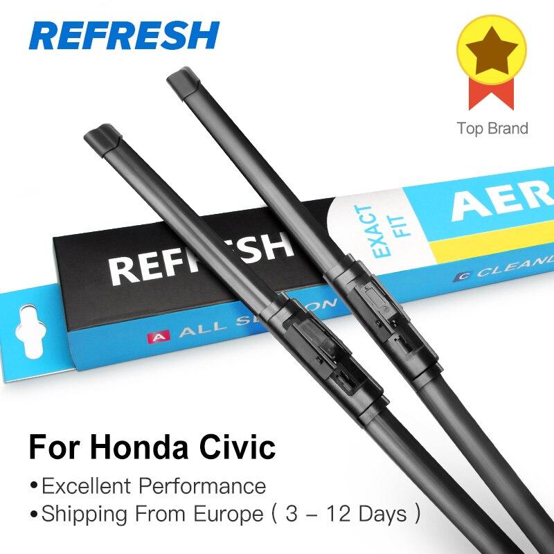 REFRESH Щетки стеклоочистителя для Honda Civic 7th 8th 9th Generation(только для международной версии