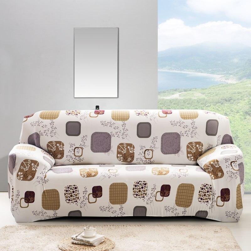 1pc flor impresso capa de sofá universal elástico poltrona protetor cobre sofá trecho toalha secional slipcover