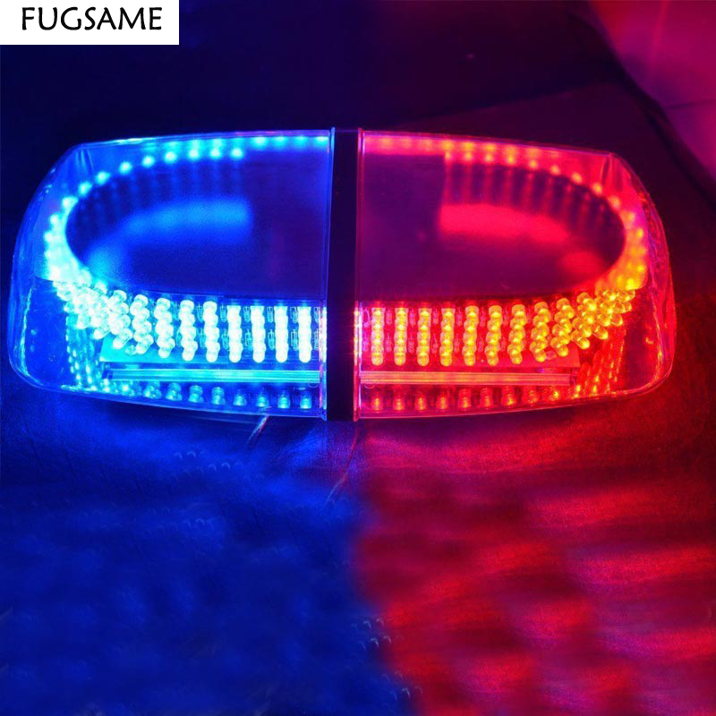 FUGSAME 240 LED Car Auto Roof Flash Strobe Magnets Emergency EMS Warning Police Light Shell Flashing Lights 240LED Red Blue in Signal Lamp from Automobiles Motorcycles
