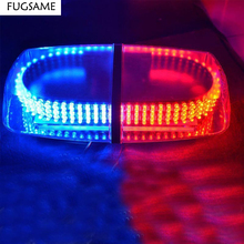 цена на 240 LED Car Auto Roof Flash Strobe Magnets Emergency EMS Warning Police   Light Shell Flashing Lights 240LED Red Blue