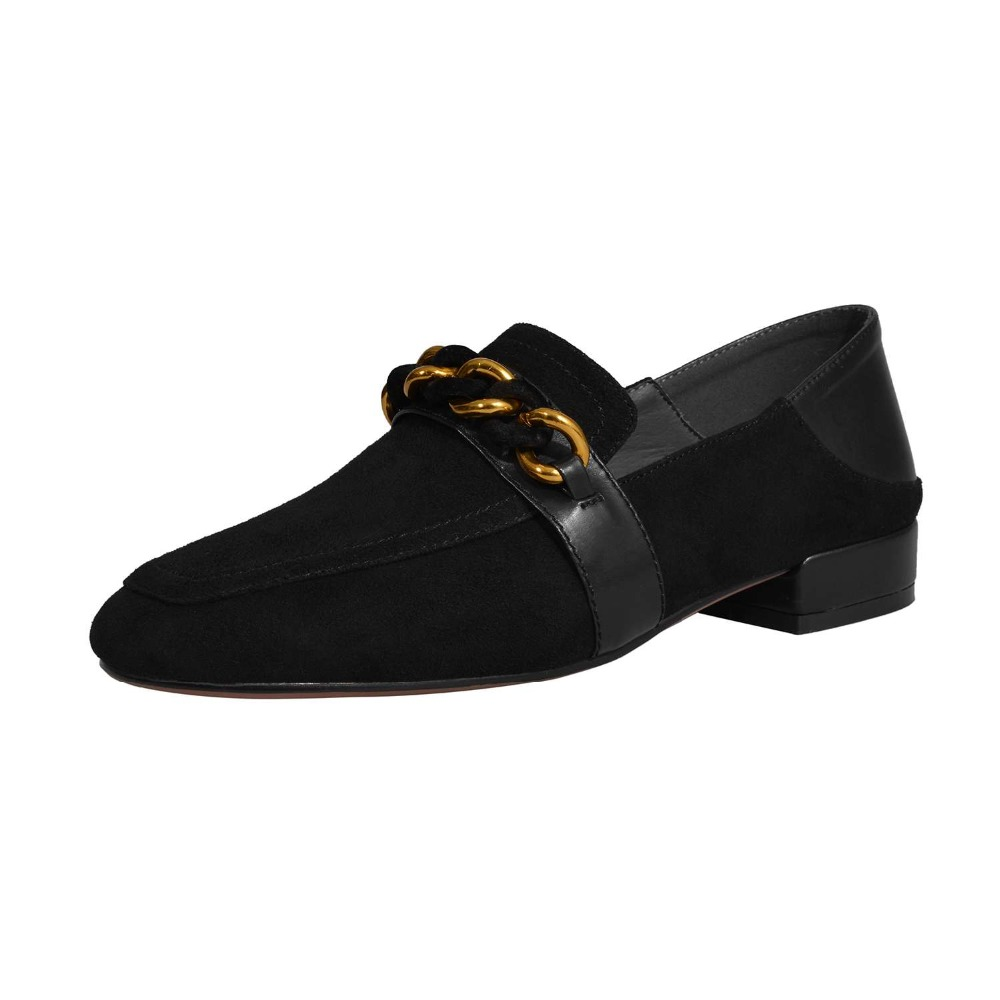 Krazing noir Bout En Pompes Faible Chian Enceinte De rose Doux Confort Et Beige Classique Chaussures Talons Carré Pleine L26 Cuir Fleur Femme Filles Métal Pot Paresseux Noir ryRSOqcr