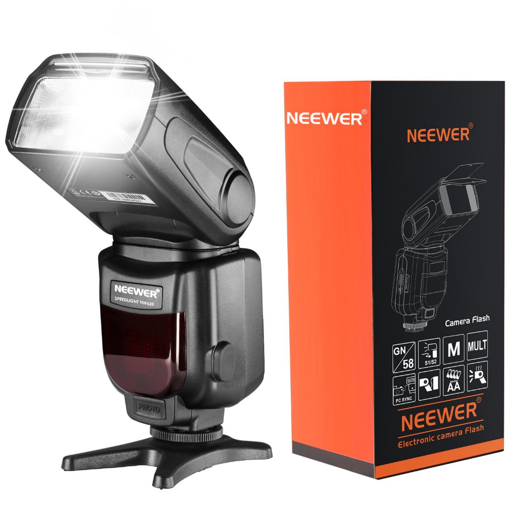 Neewer NW620(GN58)LCD Display Speedlite Flash for Canon Nikon Panasonic Olympus with Standard Hot Shoe Sony with New Mi Hot Shoe 3d hot shoe triple axis bubble gradienter for sony canon more green