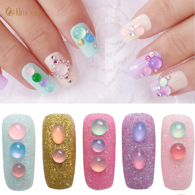 1 Box Colorful Resin Jelly Rhinestone Flatback Nail Art Gems 3D Nail ...