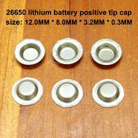 50 unids/lote 26650 batería de litio electrodo positivo negativo Punta de soldadura de 26700 positivo tapa de punta muy accesorios oído
