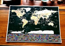все цены на Big size world scratch wall map Deluxe Edition Scratch World Map With Scratch Off Layer Visual Travel Journal for travel maps онлайн