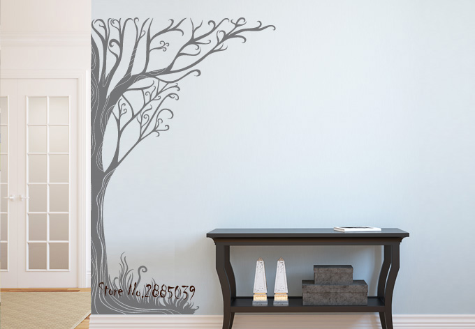 Twine Corner Tree 2017 Hot Selling Wall Stickers Home Decor Living Room Self-Adhesive Vinyl Wall Decals Quotes Bedroom Art LA197