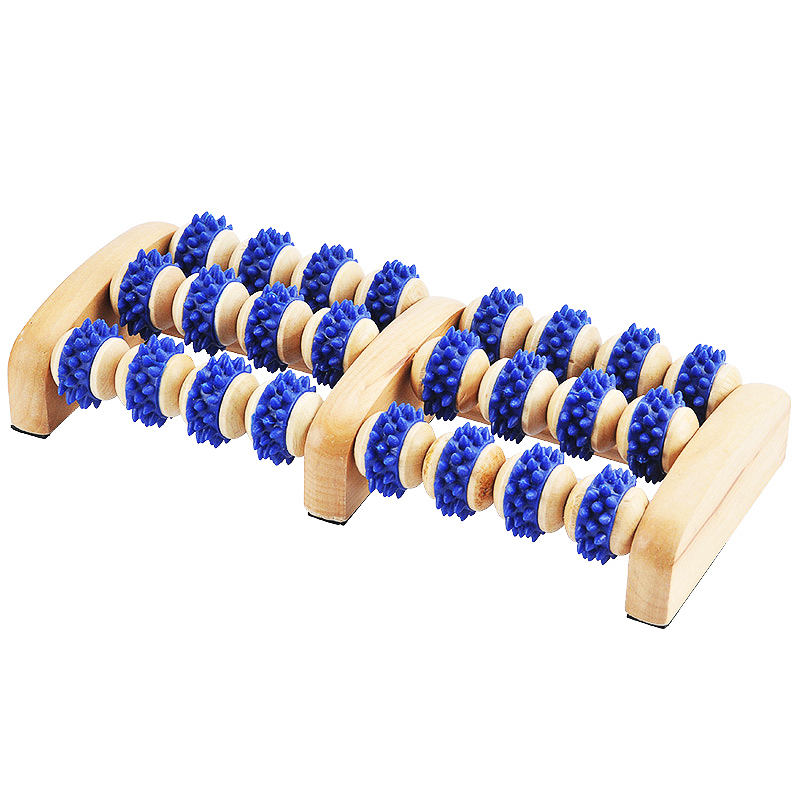Wooden Foot Roller Amazing Foot Massager Acupressure Promote Blood Circulation Stress Relief Dual Wood Body Roller Massage Tools new arrival massage body health tools body slimming massager losing fat machine promote blood circulation