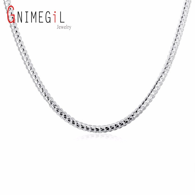 necklaces hqdefault men silver watch chunky thick solid necklace curb male heavy chain for