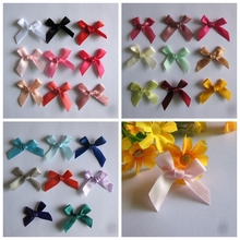 Wholesale Ribbon Bowtie Kawaii Flower gift/Garment/Craft jewelry children accessory decorated/satin silk flower 500/lot