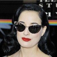 2017 Hot Sale High Quality Metal Frame Cat Eye Sunglasses Women Fashion Brand Designer Vintage Superstar Eyewear gafas de sol