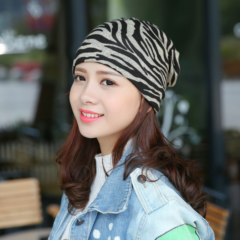 For Pregnant Women Ladies Cotton Winter Windproof Hat Fashion Printing  Leopard Zebra Pattern Multi-functional Scarf Cap FS0396 9f08ba22d50