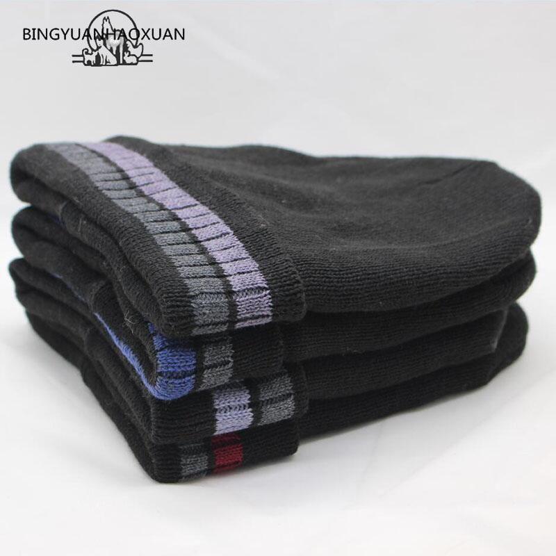 BINGYUANHAOXUAN New Fashion Men Women Warm Snow Winter Casual Beanies Solid Favourite Knit Hat Cap Hip Hop Casual Male Bonnet