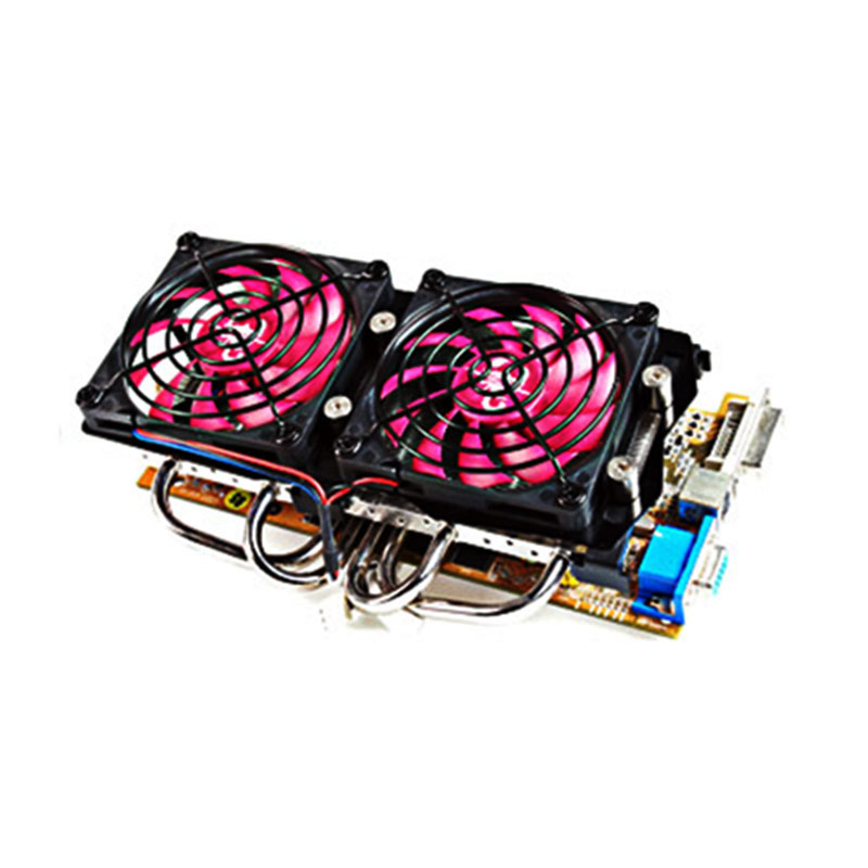 New Graphics Card Radiator Maintenance Fan Replacement Double Fans Compatible with All Graphics Accessories Graphics Cooling Fan аналоговая камера falcon eye fe da91a 10m