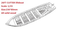 NIDALE model Free shipping solid wood lifeboat model kits Sacle 1/35 26FT Cutter lifeboat model(China)