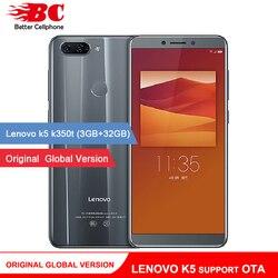 Original official international version Lenovo K5 K350t 3GB+32GB MTK6750 Octa core 5.7 Inch Dual camera 13.0MP+5.0MP 3000mAh