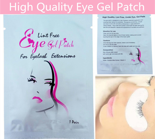 NEWCOME Paper Eye Pads under Eye Gel Patch Lint Free for Eyelash Extension Eye Tips Sticker Wraps Eyelash Makeup Tools
