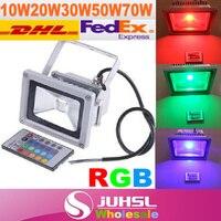 Обновления, RGB LED прожектор 10 Вт 20 Вт 30 Вт 50 Вт 70 Вт 100 Вт 120 Вт 150 Вт 200 вт, RGB LED прожектор лампы Водонепроницаемый IP65 привело Стрип лампы